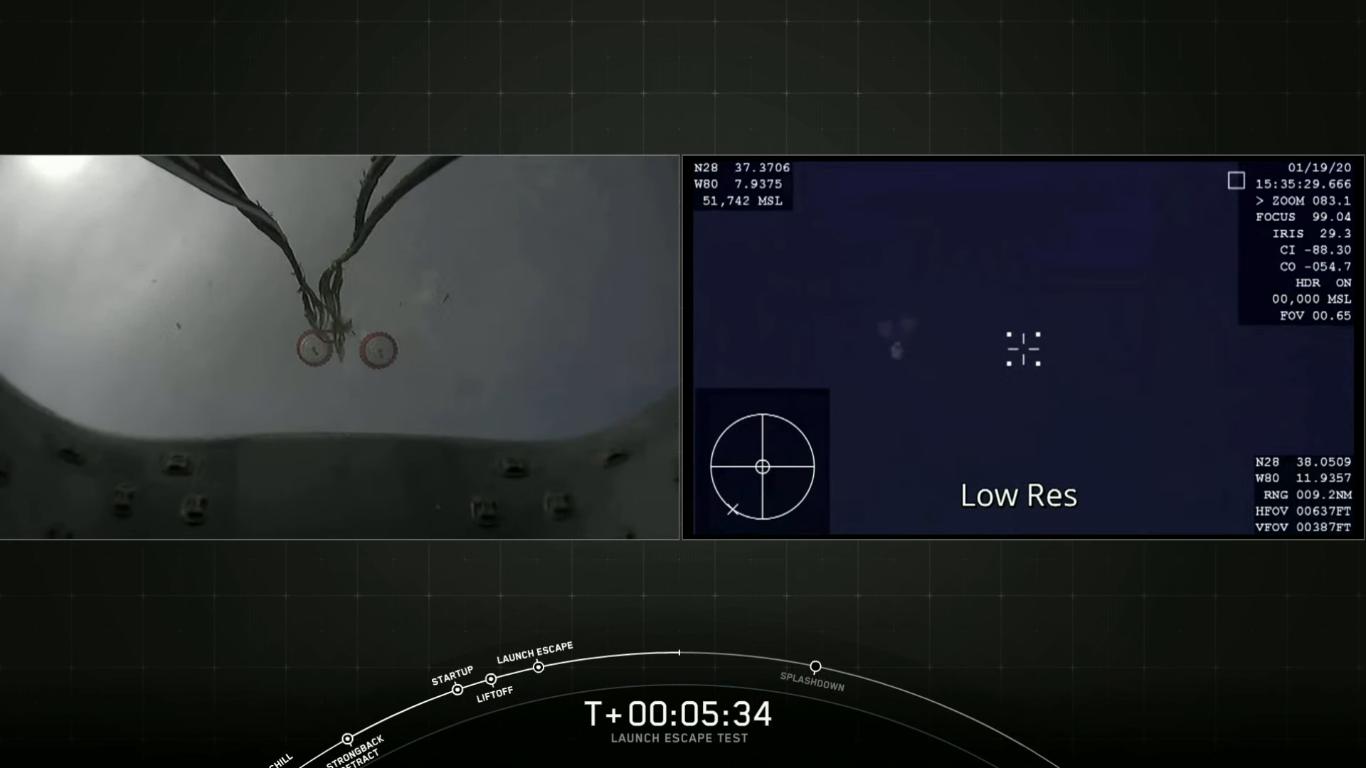 SpaceX успешно провела испытание системы спасения корабля Crew Dragon - 31