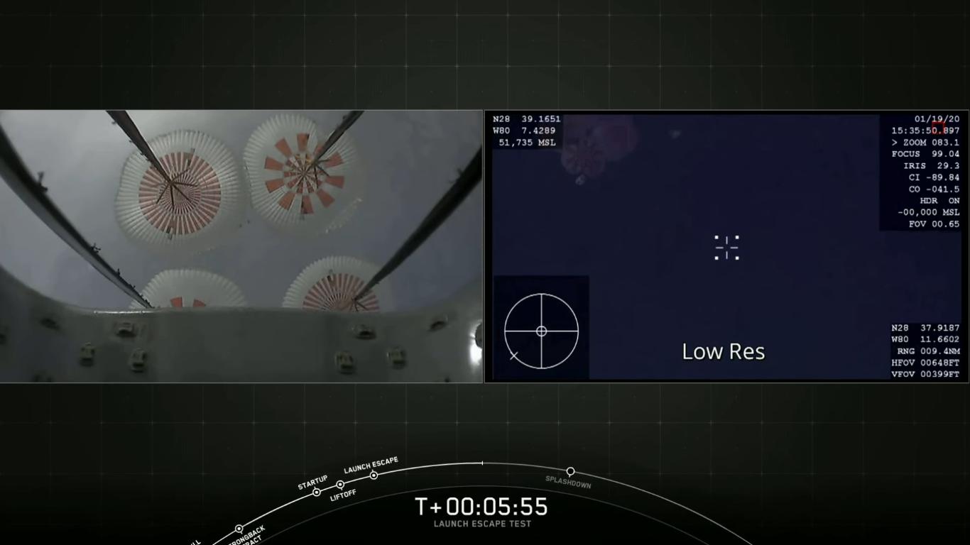SpaceX успешно провела испытание системы спасения корабля Crew Dragon - 33