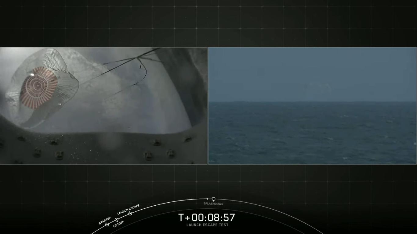 SpaceX успешно провела испытание системы спасения корабля Crew Dragon - 34
