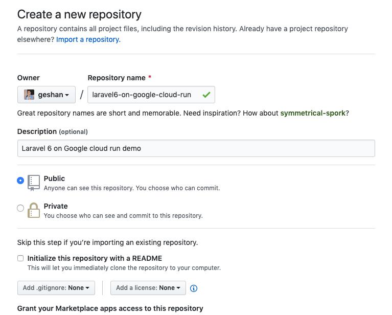 Пошаговое руководство по настройке Laravel 6 в Google Cloud Run с непрерывной интеграцией - 3