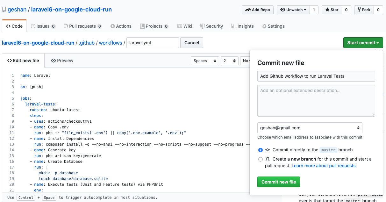 Пошаговое руководство по настройке Laravel 6 в Google Cloud Run с непрерывной интеграцией - 6