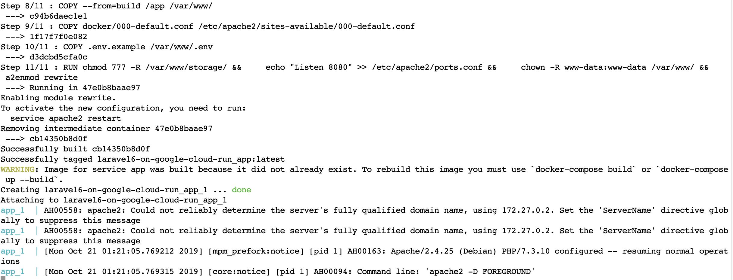 Пошаговое руководство по настройке Laravel 6 в Google Cloud Run с непрерывной интеграцией - 7