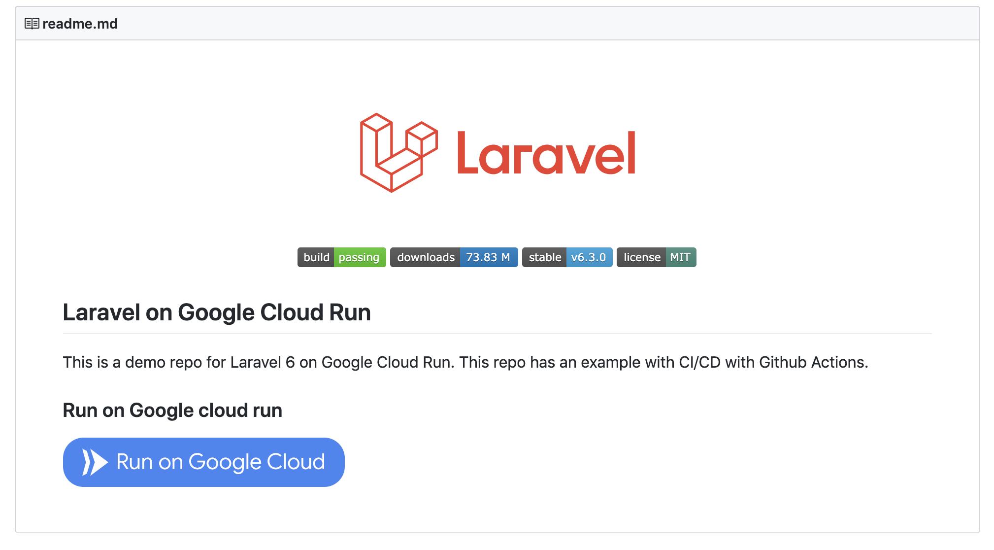Пошаговое руководство по настройке Laravel 6 в Google Cloud Run с непрерывной интеграцией - 9