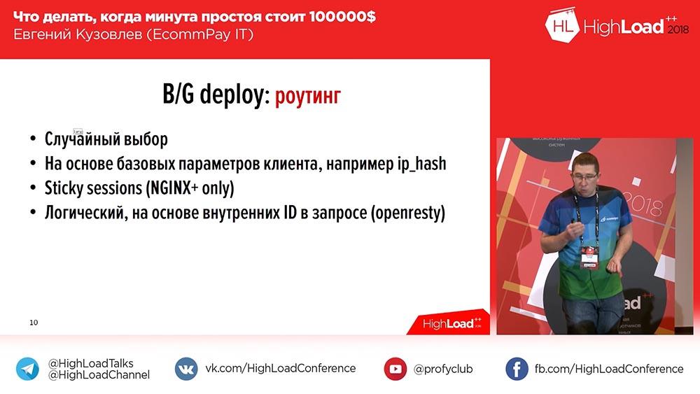 HighLoad++, Евгений Кузовлев (EcommPay IT): что делать, когда минута простоя стоит $100000 - 10