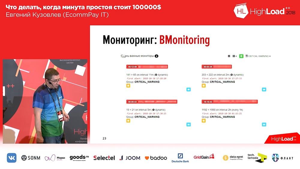 HighLoad++, Евгений Кузовлев (EcommPay IT): что делать, когда минута простоя стоит $100000 - 20