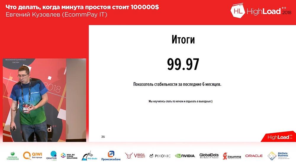 HighLoad++, Евгений Кузовлев (EcommPay IT): что делать, когда минута простоя стоит $100000 - 28