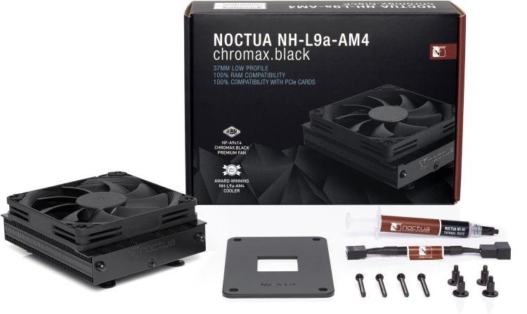 Noctua представляет кулер NH-L9a-AM4 chromax.black: низкий профиль и чёрный цвет
