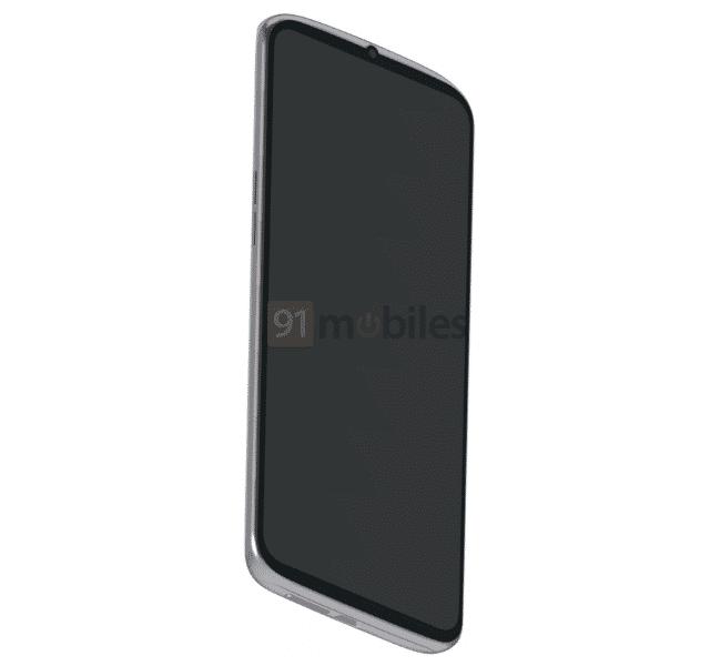 Смартфон с «обратным каплевидным вырезом» под фронтальную камеру