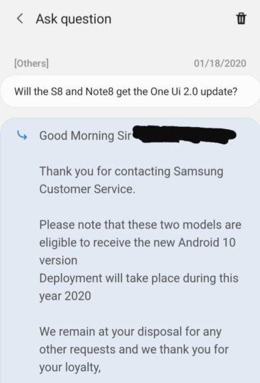 Samsung пообещала обновить старые флагманы до Android 10