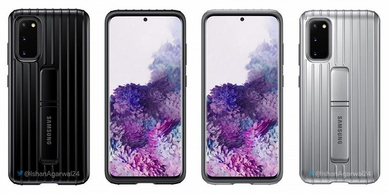 Samsung Galaxy S20, S20+ и S20 Ultra позируют с официальными аксессуарами