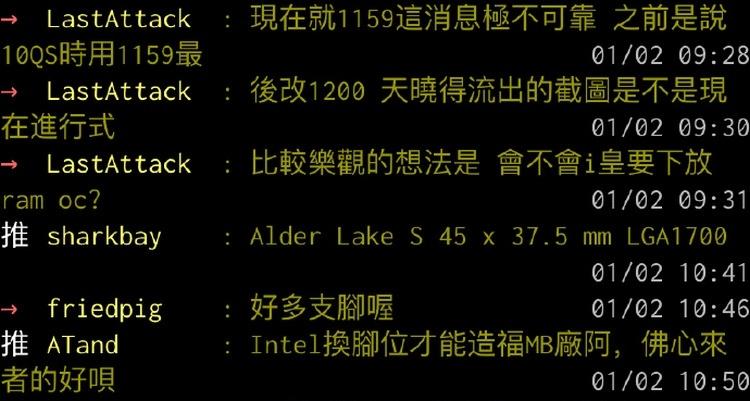 Настольные процессоры Intel Alder Lake-S получат исполнение LGA1700
