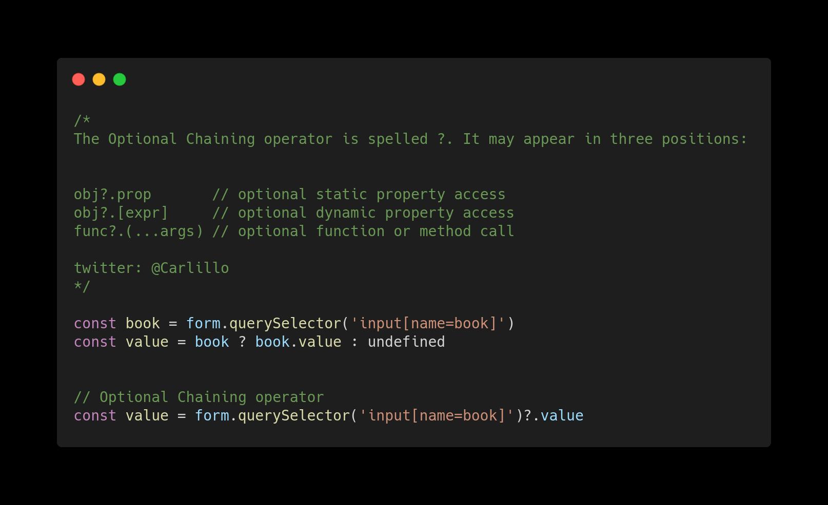 Нововведения JavaScript ES2020 с простыми примерами - 10
