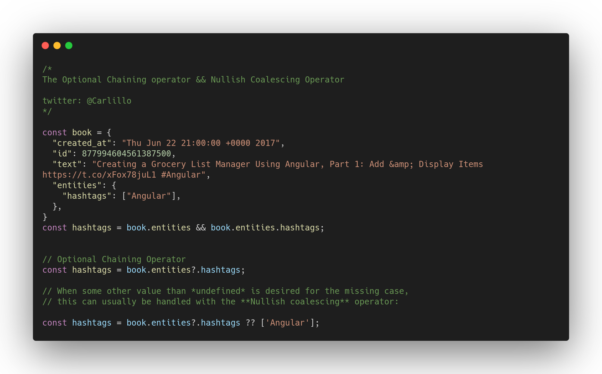 Нововведения JavaScript ES2020 с простыми примерами - 11