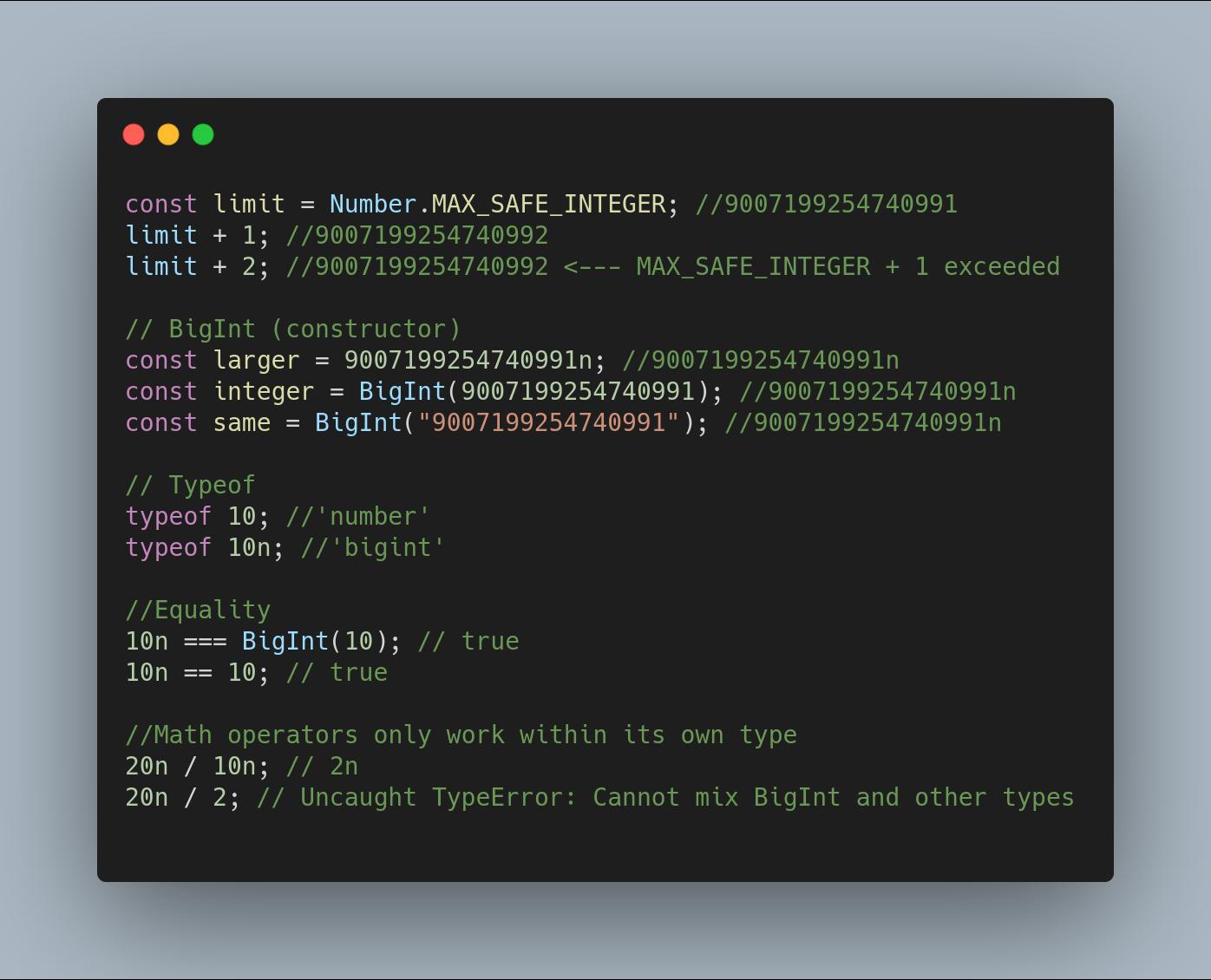 Нововведения JavaScript ES2020 с простыми примерами - 4