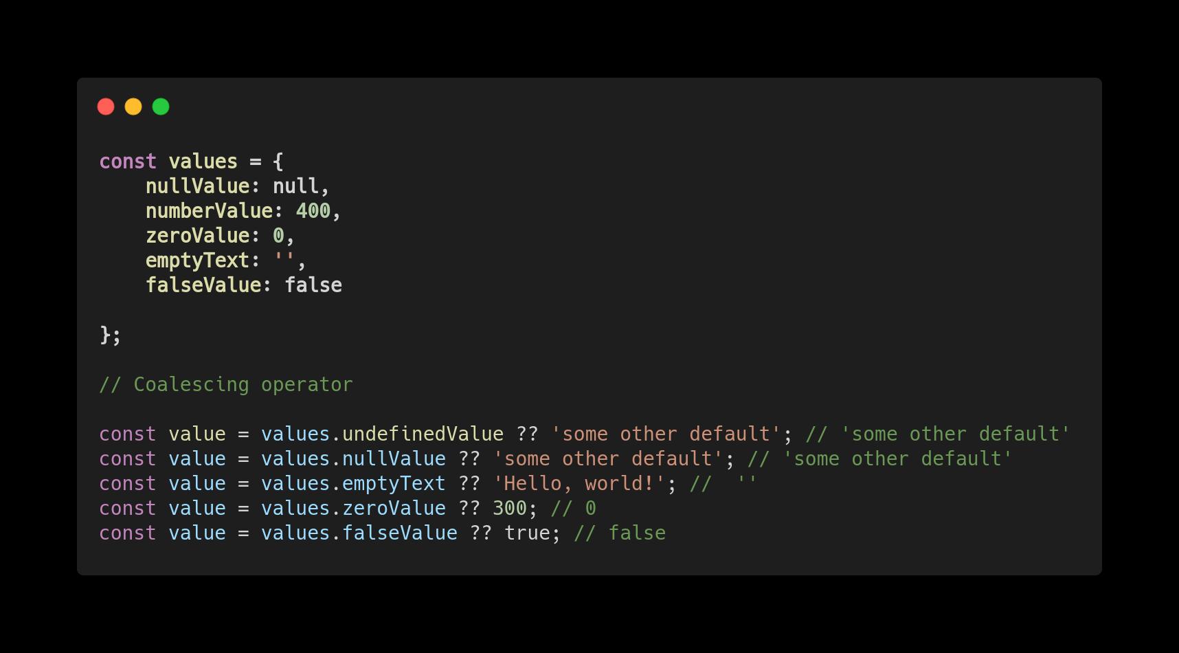 Нововведения JavaScript ES2020 с простыми примерами - 8