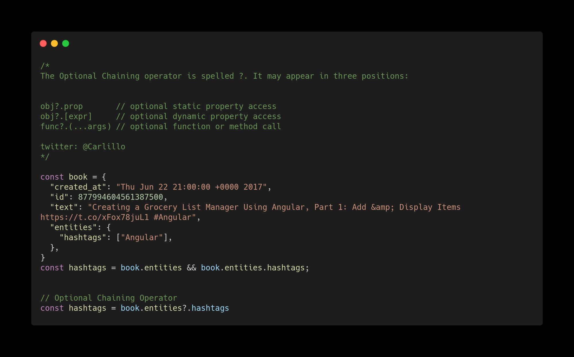 Нововведения JavaScript ES2020 с простыми примерами - 9