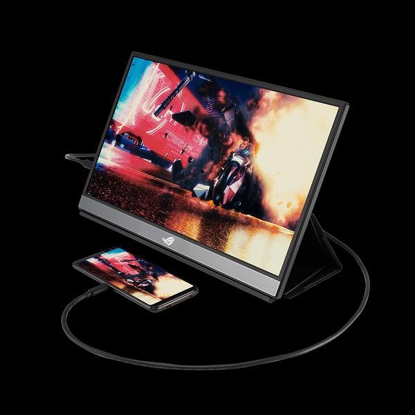 Портативный игровой монитор Asus ROG Strix XG17AHPE может проработать без подзарядки 3,5 ч