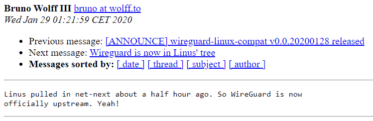 В ядро Linux 5.6 включили VPN WireGuard - 1