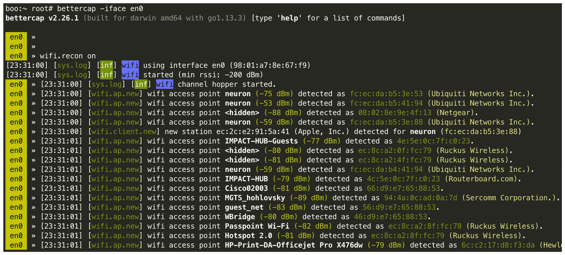 Похек Wi-Fi встроенными средствами macOS - 13