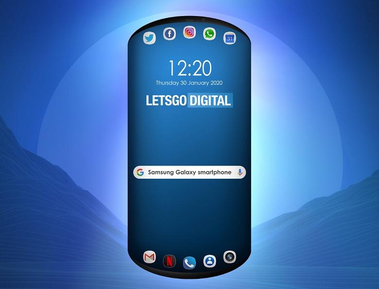 Samsung показала первый смартфон с овальным дисплеем