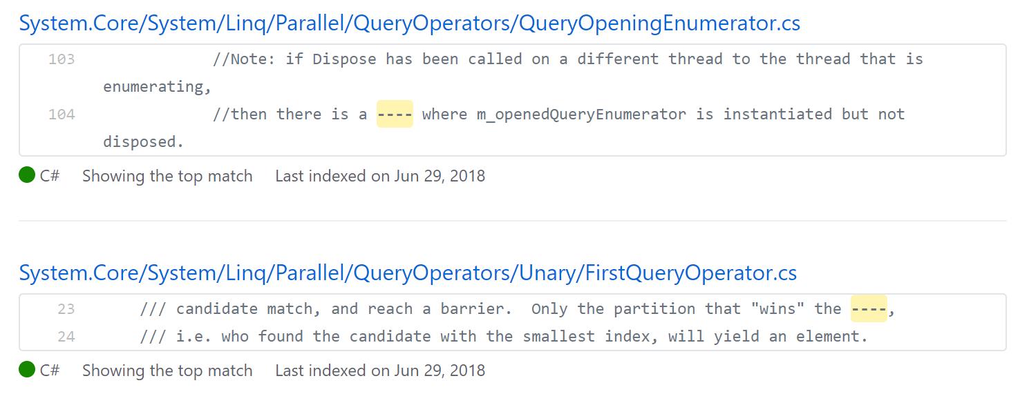Цензура в исходном коде .NET Framework - 2