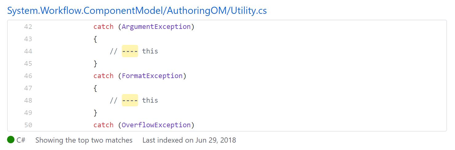 Цензура в исходном коде .NET Framework - 3