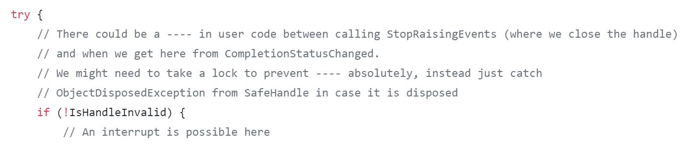 Цензура в исходном коде .NET Framework - 1