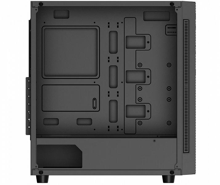 Передняя панель корпуса DeepCool Matrexx 55 Mesh 4F почти полностью изготовлена из сетки