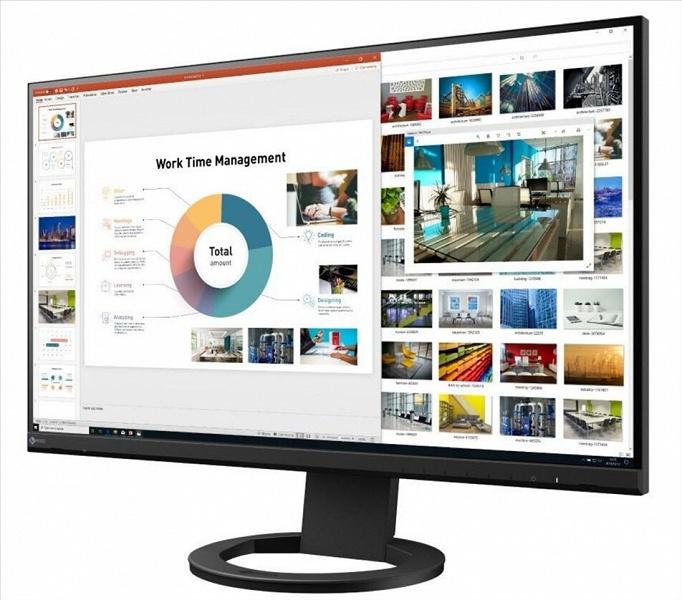 В мониторе EIZO FlexScan EV2760 используется 27-дюймовая панель типа IPS разрешением 2560 x 1440 пикселей