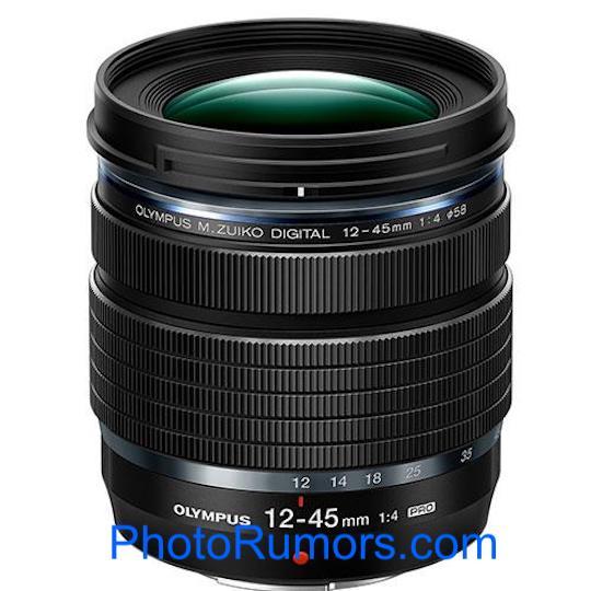 Появились подробные сведения об объективе Olympus M.Zuiko Digital ED 12-45mm f/4.0 PRO