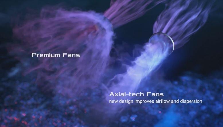 Системы охлаждения видеокарт Asus TUF Gaming X3 Radeon RX 5700 EVO и RX 5700 XT EVO отличаются от систем охлаждения карт серии TUF Gaming X3 Radeon RX 5700