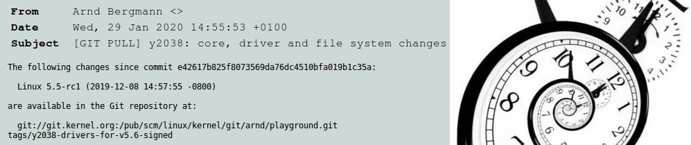 В ядре Linux версии 5.6 разработчики решили проблему 2038 года для 32-битных систем - 1