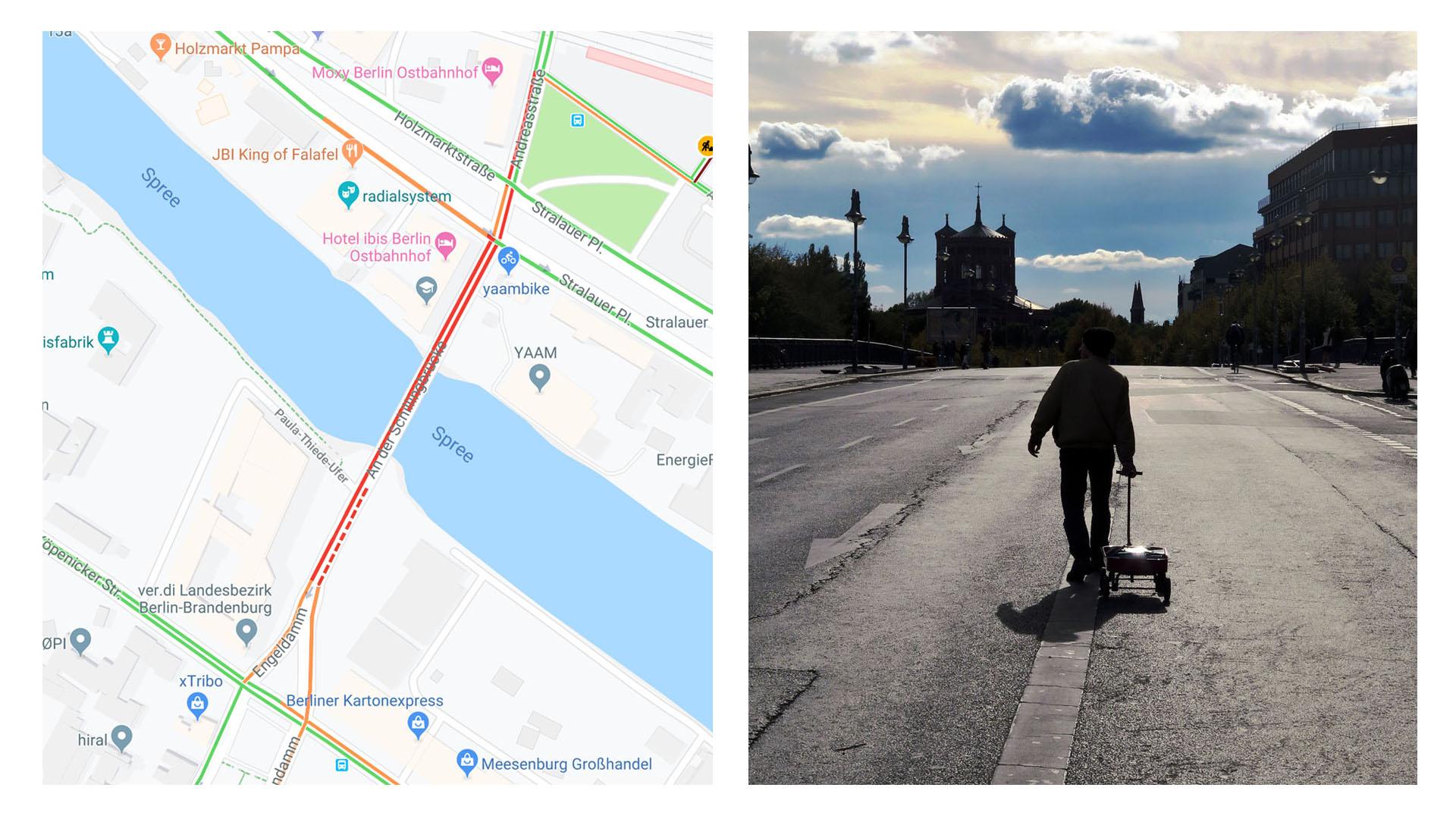С помощью 99 смартфонов художник-концептуалист создал автомобильную пробку на Google Maps - 1