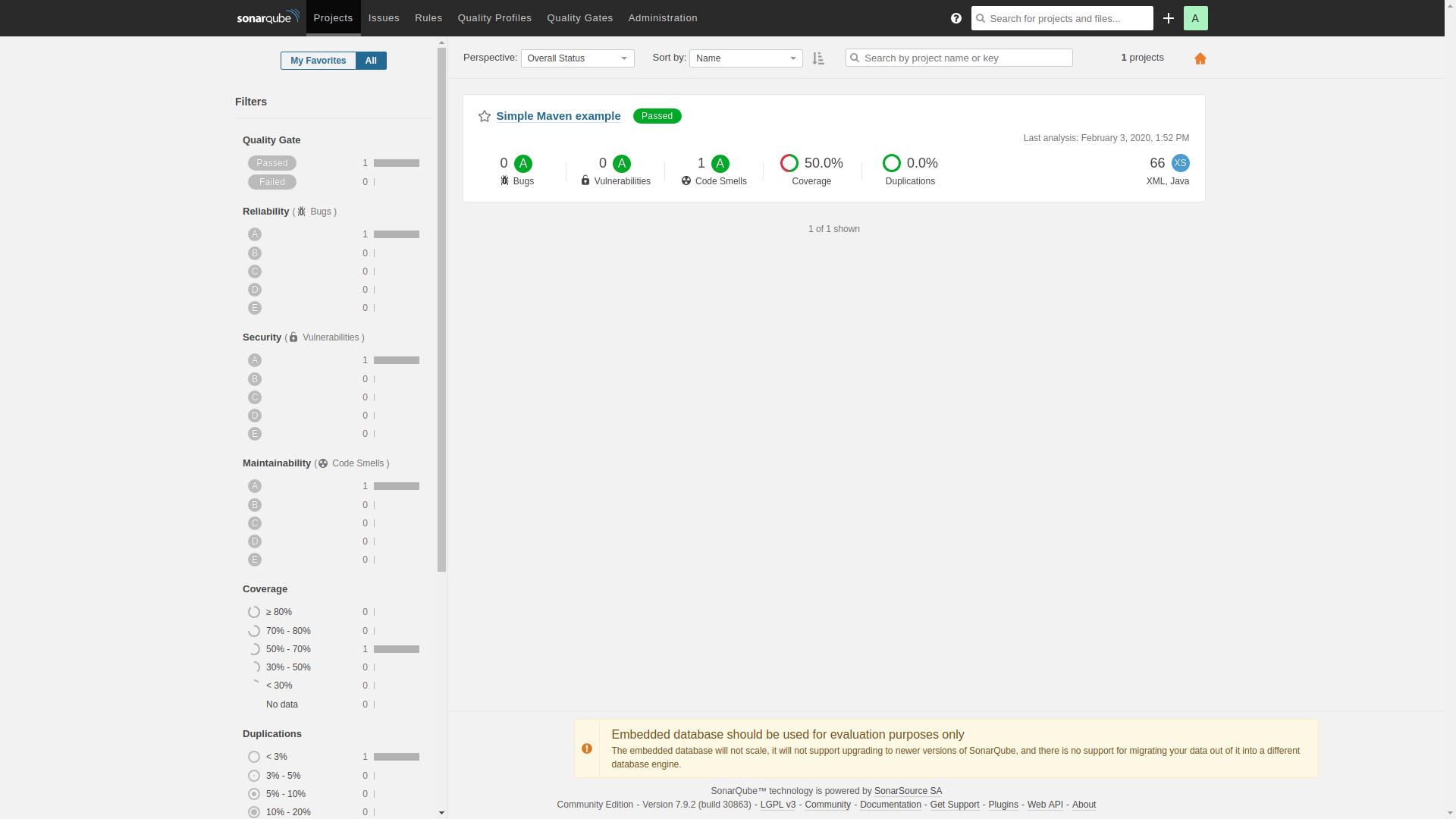 Отображение разработчикам статуса контроля качества исходного кода в SonarQube - 5