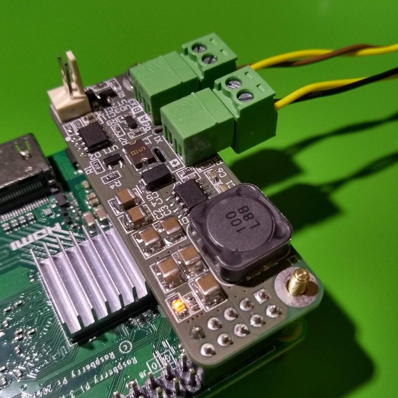 PIndastrial shield — модуль питания и интерфейса RS-485 для Raspberry PI - 1