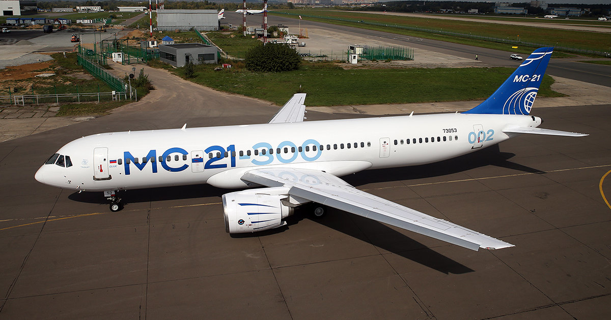 Сборку самолёта МС-21 показали на видео
