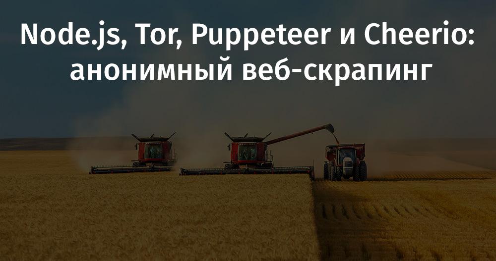 Node.js, Tor, Puppeteer и Cheerio: анонимный веб-скрапинг - 1