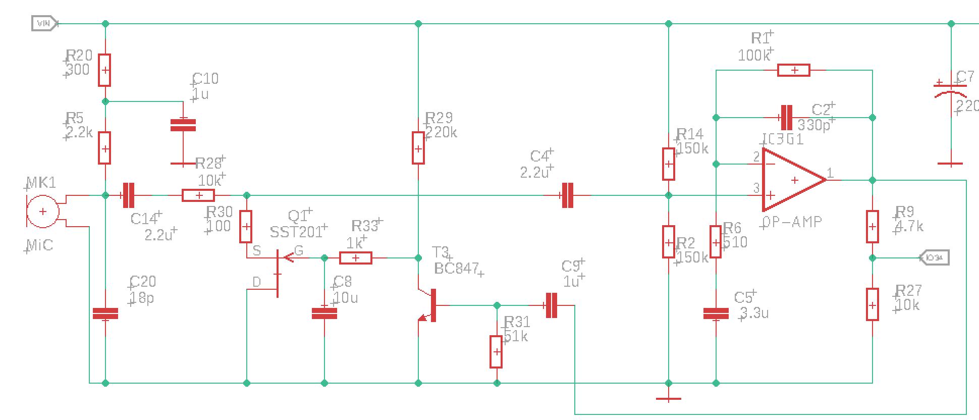 Микрофонный усилитель и УНЧ для ЦАП и АЦП микроконтроллера - 16