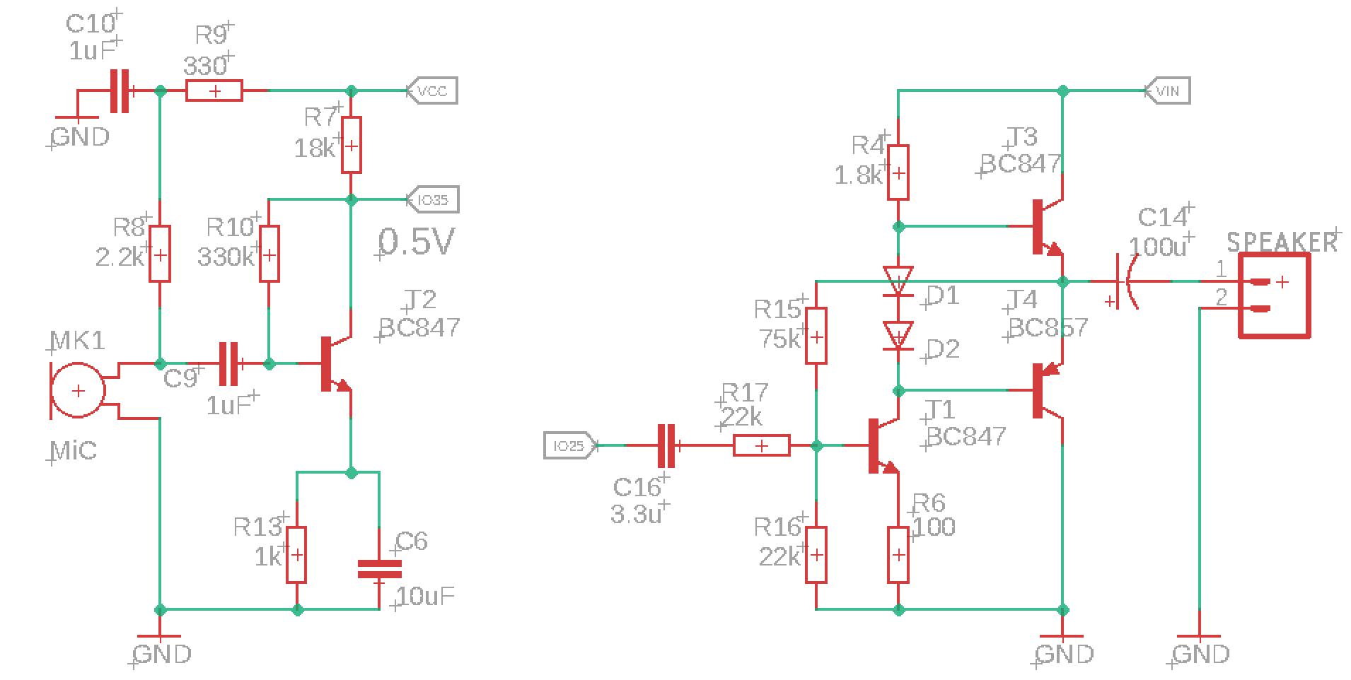 Микрофонный усилитель и УНЧ для ЦАП и АЦП микроконтроллера - 2