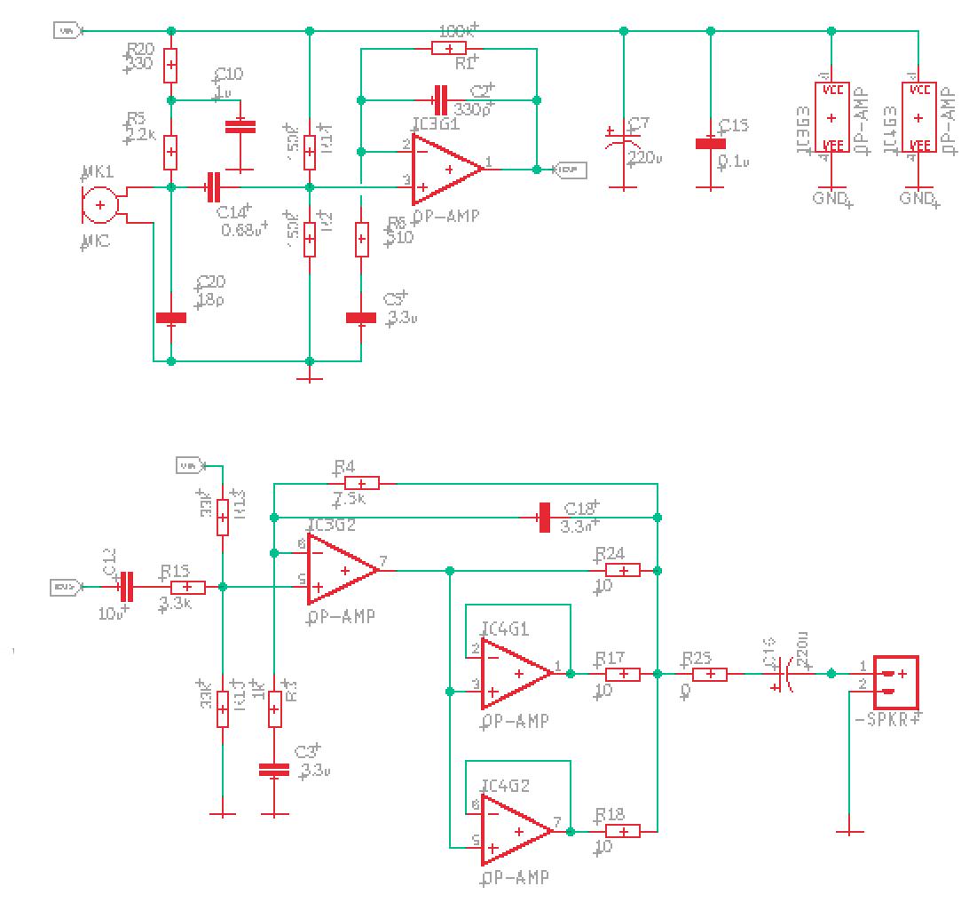 Микрофонный усилитель и УНЧ для ЦАП и АЦП микроконтроллера - 8