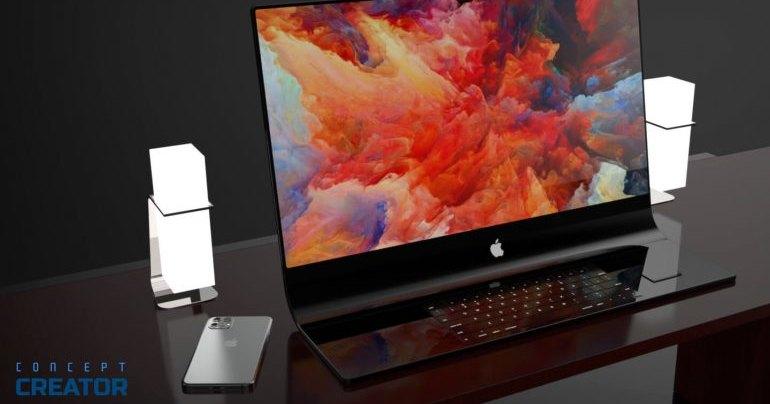 Как может выглядеть изогнутый стеклянный iMac