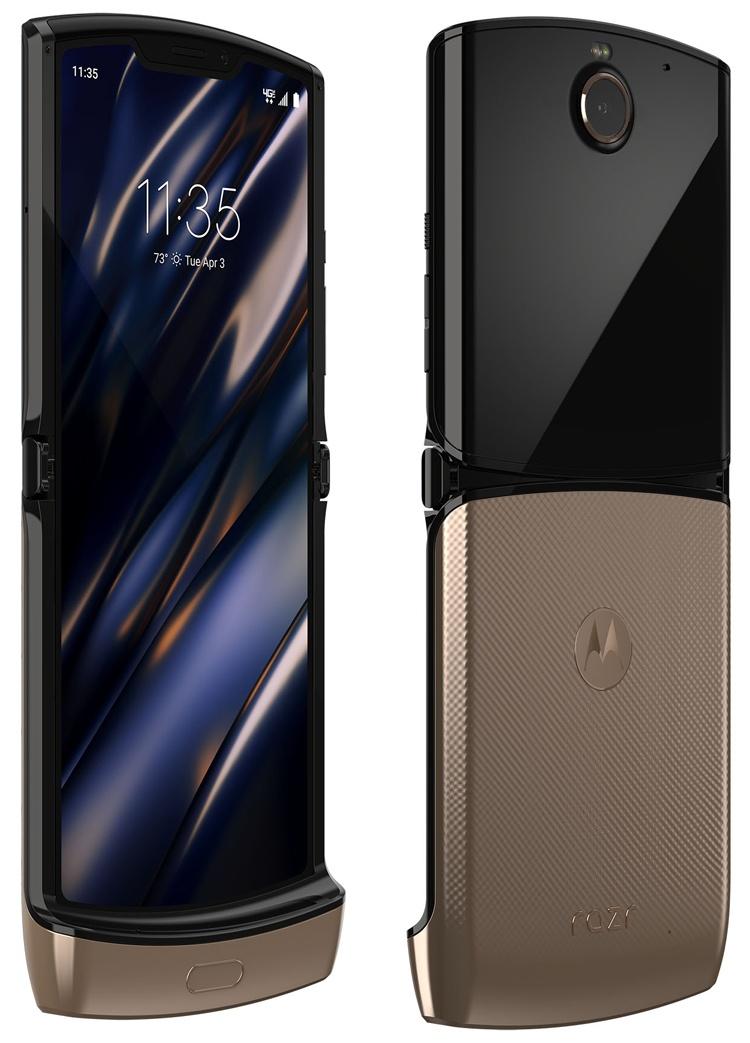 Гибкий смартфон Motorola razr выйдет в цвете Blush Gold