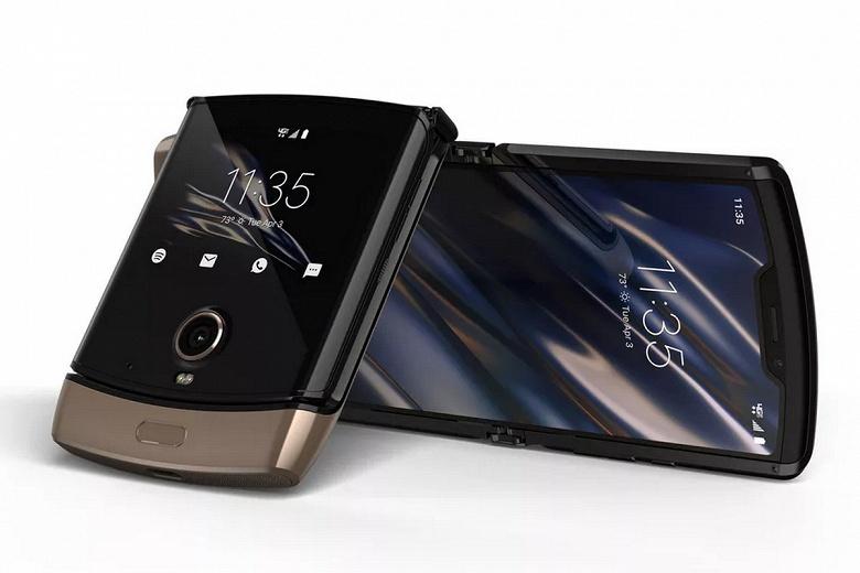 Двухцветная гибкая раскладушка Motorola Razr выйдет весной