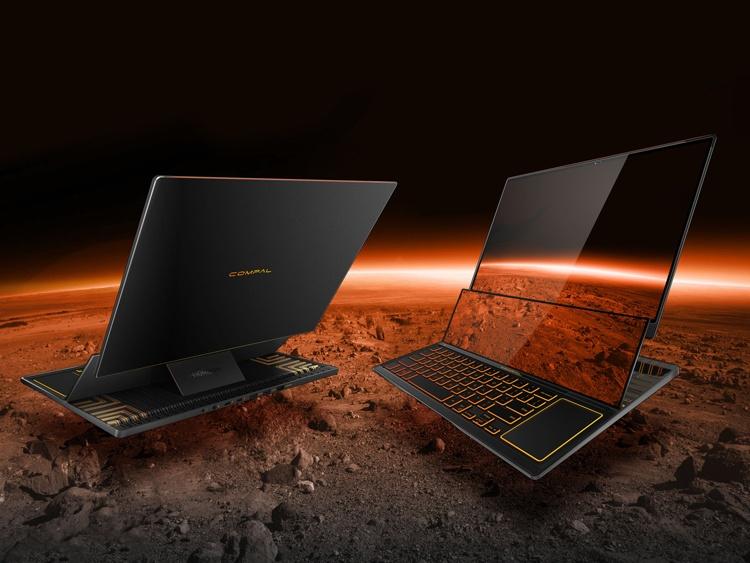 Игровой ноутбук Compal Gemini оборудован «расширяемым» экраном
