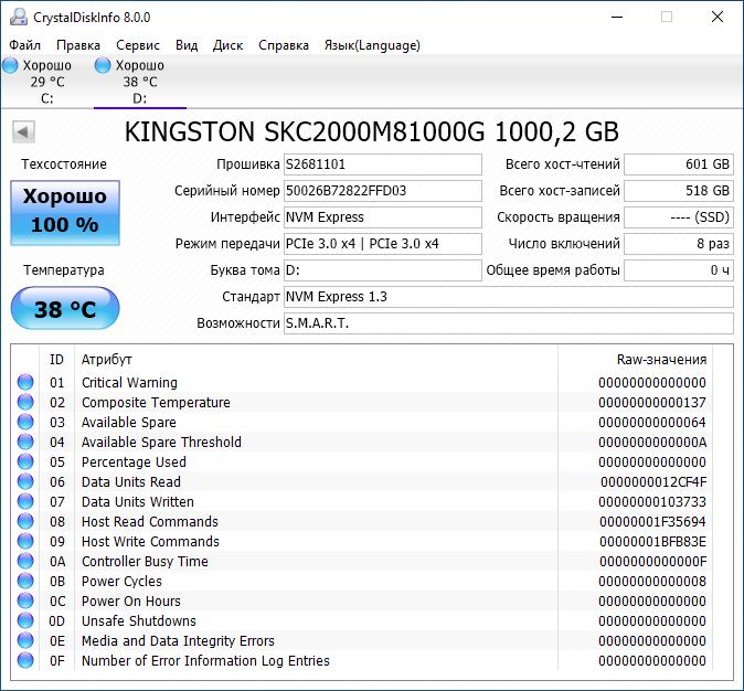 Скорость и надёжность выше, а цена ниже. Новые твердотельные накопители Kingston KC2000 - 12