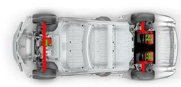 Tesla Plaid. Два варианта трехмоторной компоновки электропривода - 2