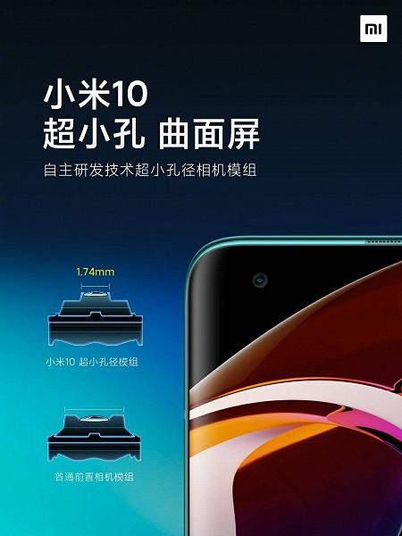 Xiaomi Mi 10 получил рекордно маленькую камеру