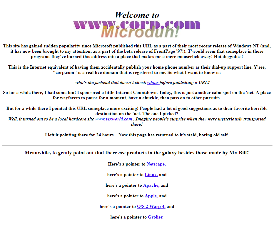 Домен corp.com выставлен на продажу. Он опасен для сотен тысяч корпоративных компьютеров под управлением Windows - 4