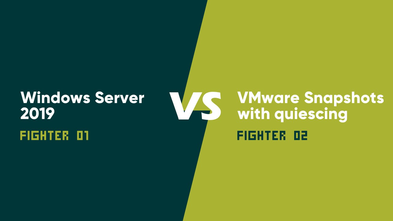 Windows Server 2019 vs. VMware Snapshots with quiescing: элегантное решение проблемы - 1