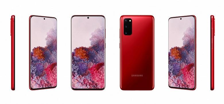 Фанатам красного цвета не стоит проходить мимо смартфонов Galaxy S20